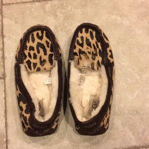 UGG Leopard Moccasin Slippers